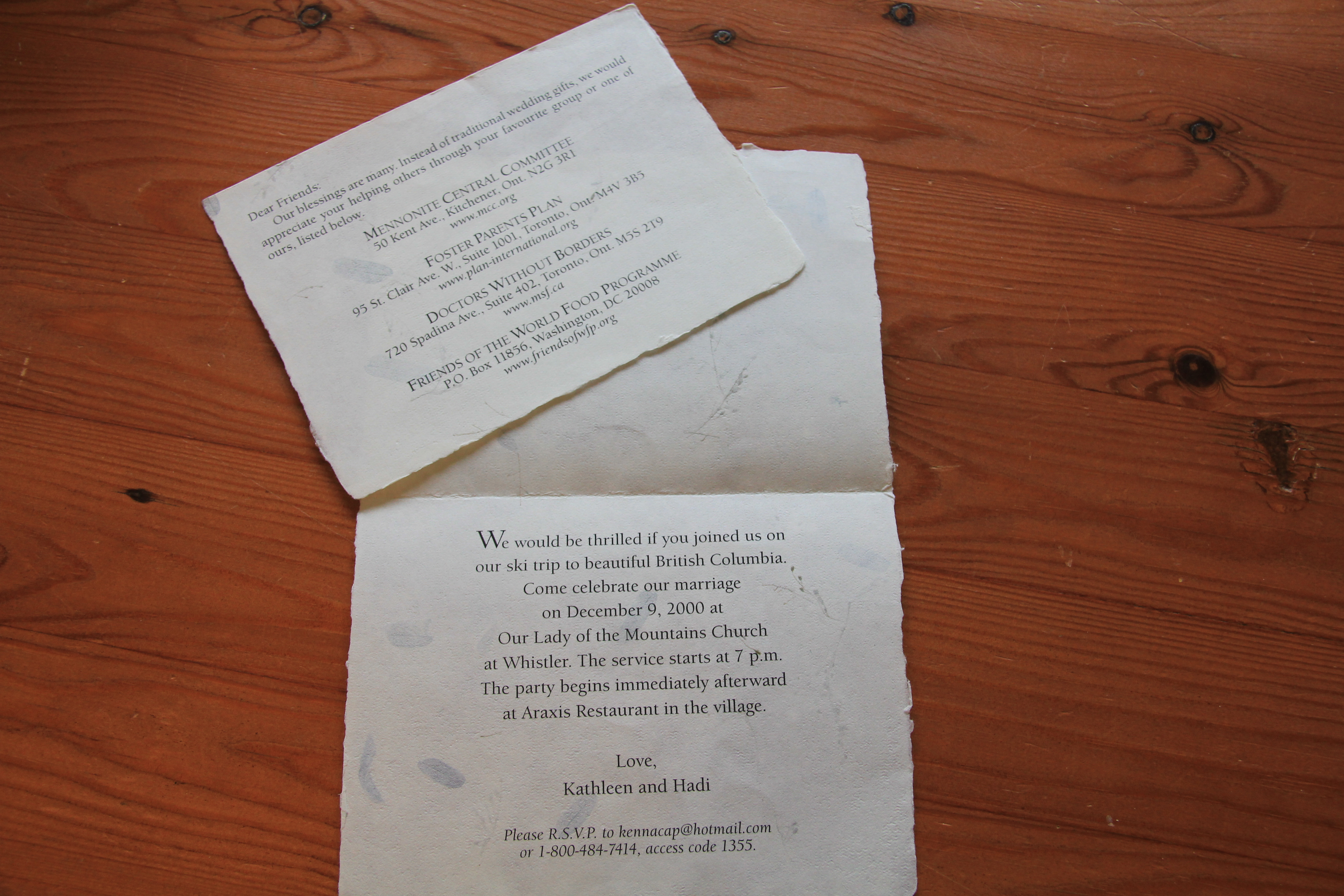 Wedding Invitation Thoughts: Blessings, A Wedding Invite, And Thoughts On Giving At