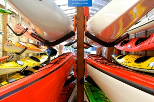 Kayaks in storage, Victoria, B.C. (Hadi Dadashian photo)
