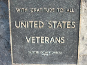 Plaque at Shelter Cove, VA. (Kathleen Kenna photo)