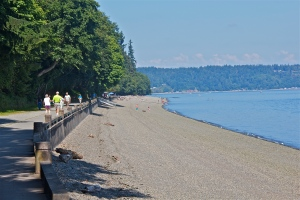 Public beach at Point Defiance park, WA. (Hadi Dadashian photo)
