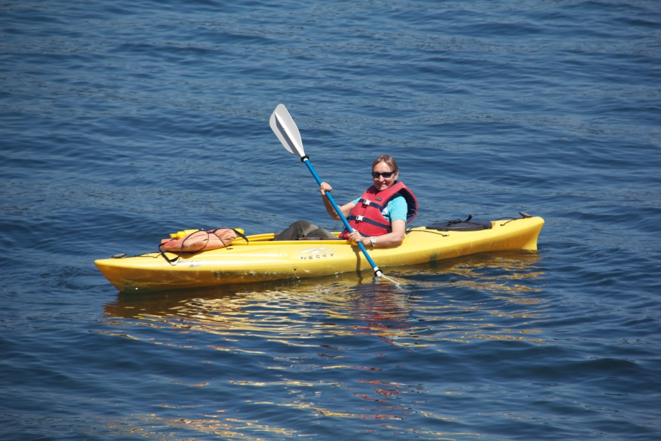 Kayaking at Point Defiance, WA. (Hadi Dadashian photo)
