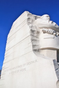 White granite memorial to Martin Luther King Jr., D.C. (Hadi Dadashian photo)