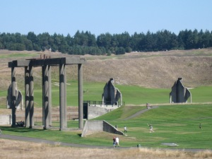 Chambers Bay Golf Course was developed from industrial ruins. (Kathleen Kenna photo)