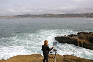 Oceanside artist, La Jolla, CA. (Hadi Dadashian photo)
