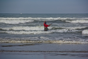 Ocean Shores fishing in the Pacific. (Hadi Dadashian photo)